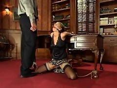 Veronica, new to BDSM, suffers as she is forced to give a blowjob