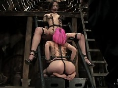 Amber Rayne and Cherry Torn in hour endurance bondage ordeal