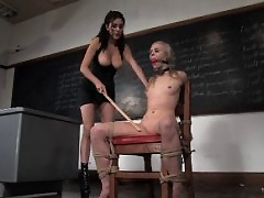 Sarah Jane gets trained to submit with electric dog collar